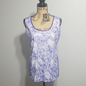 XL Dana Buchman Sequin Tank Blue Purple White